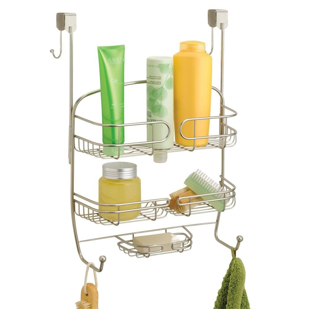InterDesign Neo Over Shower Door Caddy, Satin: Amazon.in: Home & Kitchen
