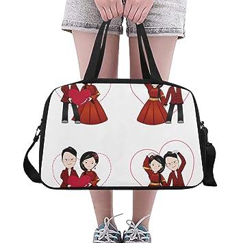 Amazon.com: Bolsas de gimnasio chinas de dibujos animados ...