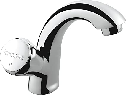 Hindware F330012CP Contessa Plus Swan Neck Tap with Left Hand Operating Knob (Chrome)