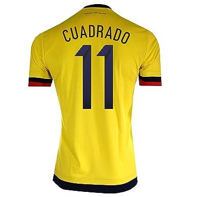 wholesale dealer ddfd2 9438b Cuadrado #11 Colombia Home Soccer Jersey 2015