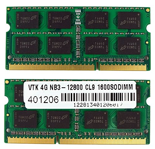 VisionTek 8GB (2x4GB) DDR3 1600 MHz (PC3-12800) CL9 SODIMM Kit, Notebook Memory - (Back Office Small Business Server)