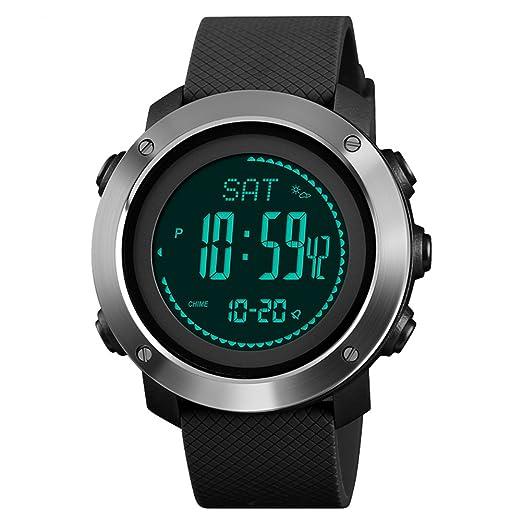 81cfc6152000 Kauo - Reloj Deportivo multifunción para Hombre con calorías ...