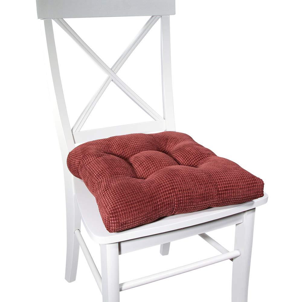 Arlee Delano Memory Foam Chair Pad Set of 2 Chocolate 2 Piece