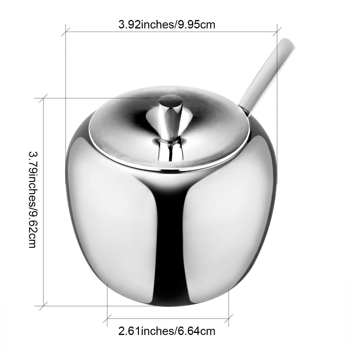 amazoncom  hardnok stainless steel sugar bowl with lid and sugar  - amazoncom  hardnok stainless steel sugar bowl with lid and sugar spoon ounces ( milliliter) sugar bowls