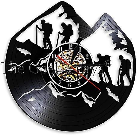 ALKLKJ Reloj de Pared Logotipo de Escalada de Montaña Reloj ...
