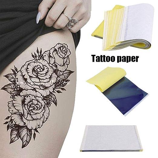 50 piezas Papel de transferencia de tatuaje 4 capas Tamaño A4 ...