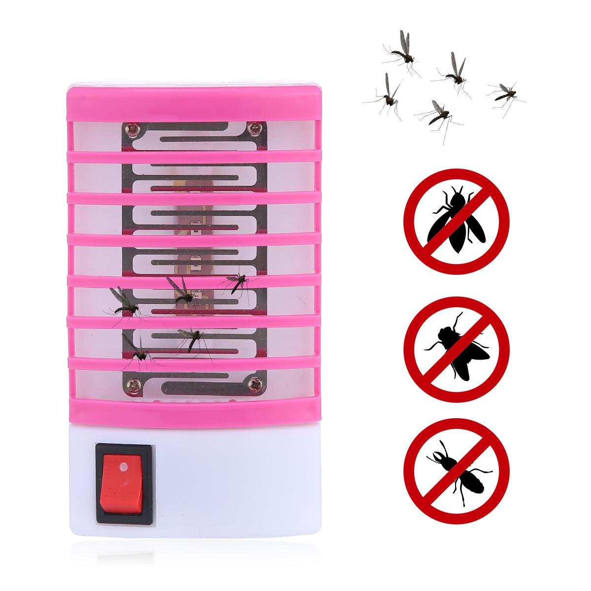110V Electronic Mosquito Killer Night Lamp, Teepao Mini Mosquito Repellent Zapper Repeller with LED Light Non-Radiative and Non-Toxic,Built in Fly Insect Flying Pests Bug Trap for Indoor Outdoor