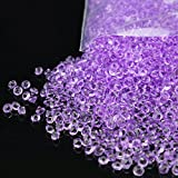 10000 Acrylic Crystals Diamonds Confetti Scatter Crystals Wedding Scatter Table Home Decoration 4.5mm (Lavender)