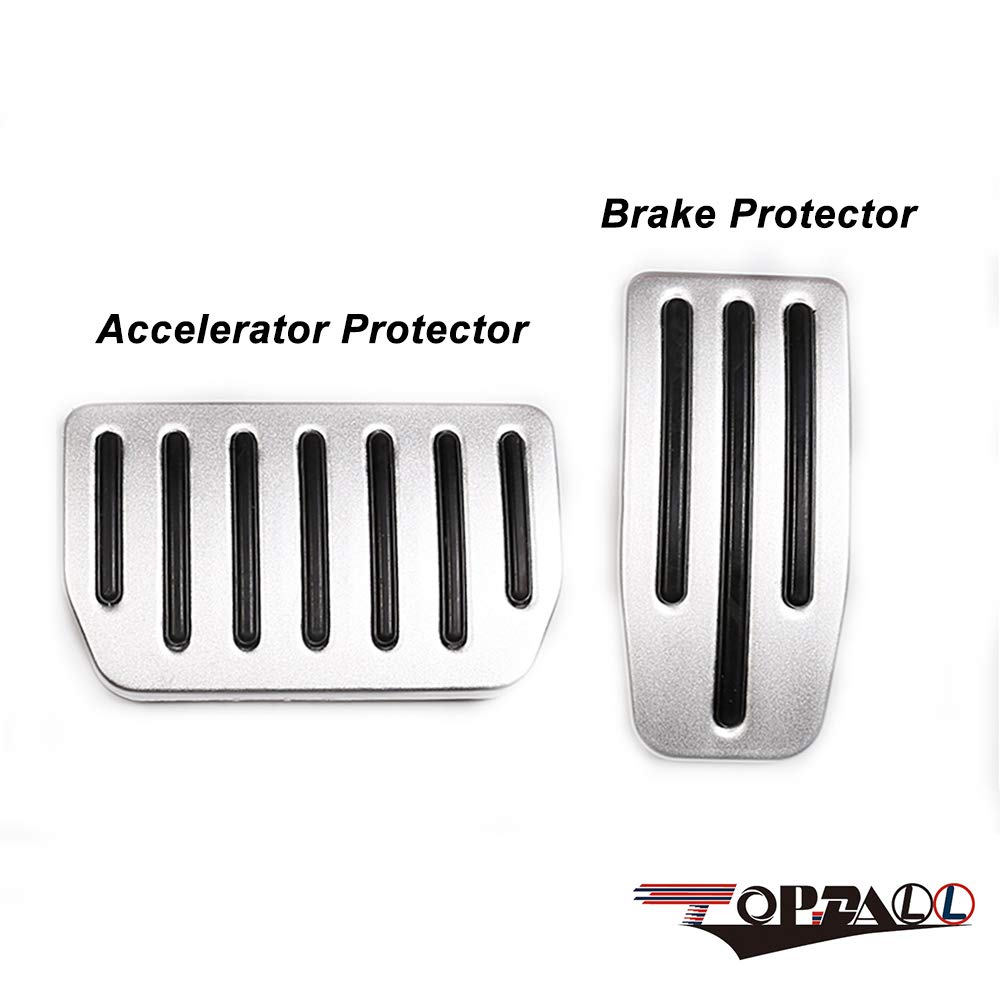 A Set of 2 TopDall Non-Slip Performance Accelerator /& Brake Aluminum Pedal Covers Pads for Tesla Model S and Model X