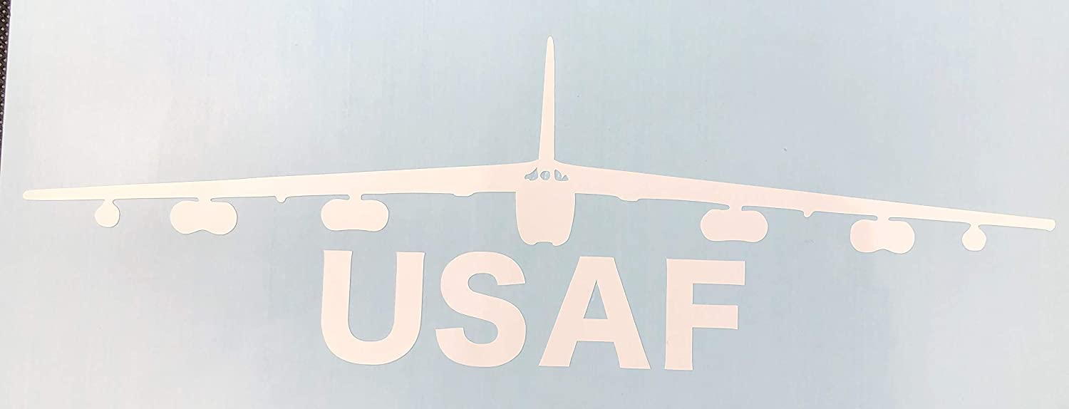 Airplane USAF White Vinyl Car Decal New Gift