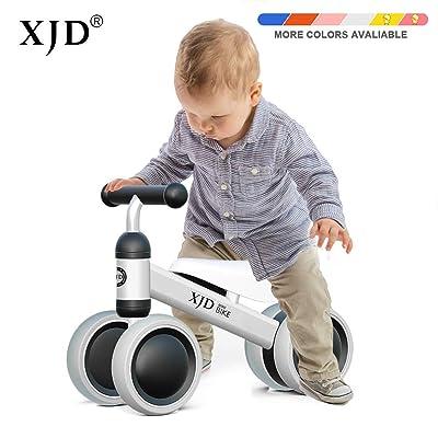 XJD Bicicleta sin Pedales para Bebé de 1 año Bicicleta Equilibrio Bebé para Aprender a Caminar Regalo de Primera Bicicleta para niños Ninas de 10-24 Meses (Blanco): Juguetes y juegos
