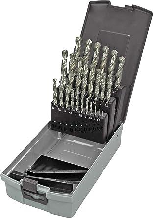 Keil 302 501 113 - Juego de 25 brocas para perforadora de metal en estuche RoseBox (HSS DIN 338, rectificada, afilada en cruz, 1-13 mm): Amazon.es: Industria, empresas y ciencia