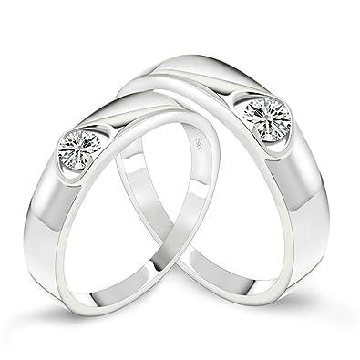 aooaz joyas mujer anillo, anillo de plata de ley 925 blanco ...
