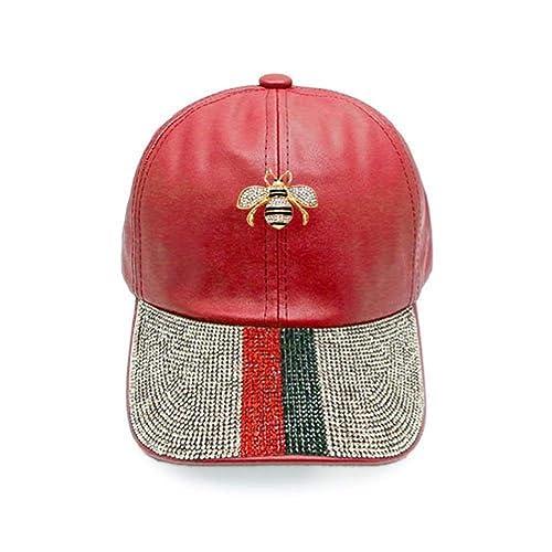 11efd5e7655 Amazon.com  Vera New York Gucci Inspired Striped Rhinestone Red Faux ...
