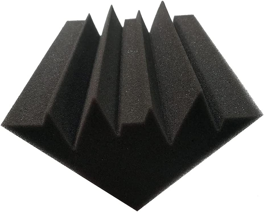 Acoustic Panels Bass Traps Soundproof Wall Panels Acoustic Foam Studio Foam Sound KTV Soundproof Foam Corner Block Finish Corner Wall in Studios Home Theater (12 Pack)