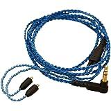 GAOHOU MMCXイヤホンケーブルブルーDIY XBA-H2 / HA-FX850 / UE900 / Shure SE215 / SE315用