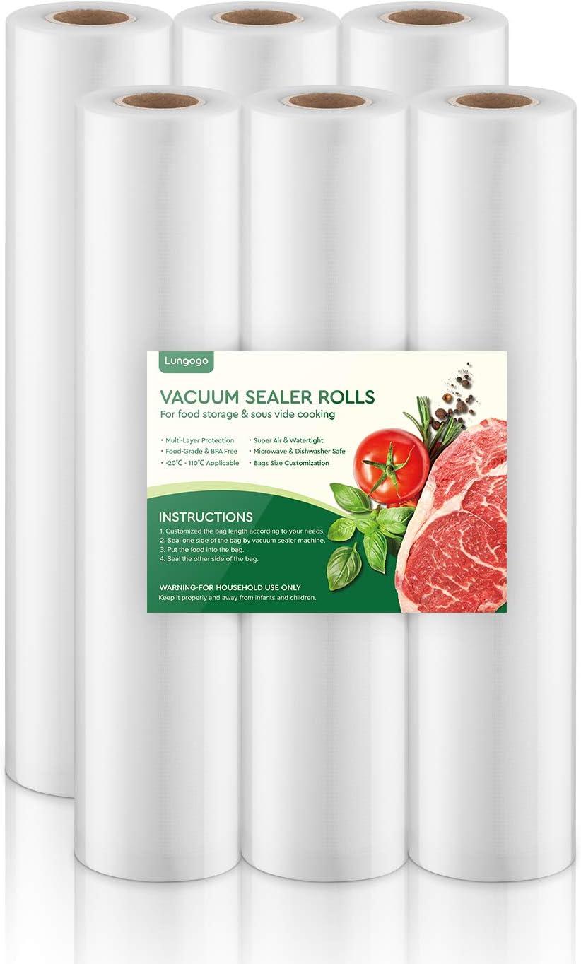 Lungogo Vacuum Sealer Rolls 6 Packs 11