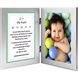 Gift for Aunt - Sweet Poem from Niece or Nephew in Double Frame - Add 4x6 Inch Photo