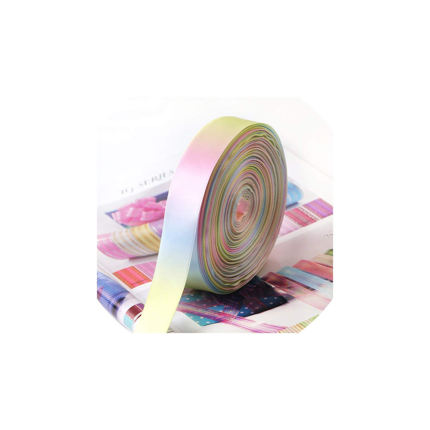 Party Streamers Rainbow Ribbon Printed Polyester Satin Ribbons Handmade Materials,50mm by AYO-LE streamers (Image #1)