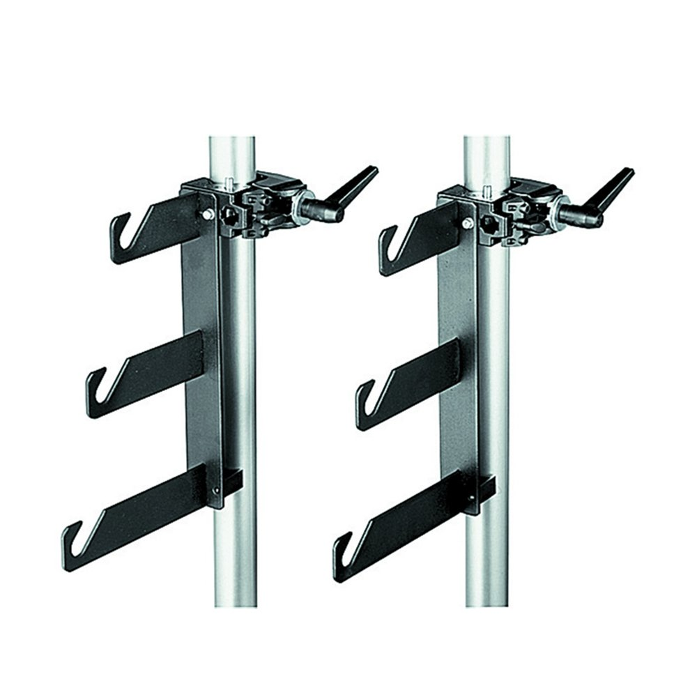 Manfrotto 044 B/P Clamps-2 Holder Hooks 045 Mounted on 2 Superclamps 035 by Manfrotto