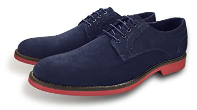 547316229b9e Piccadilly Men s Blue Suede Shoes with Red Soles  Amazon.co.uk ...