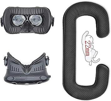 HTCVive用革材フェイスクッション22mmVRヘッドフォイヤーパッドヘッドホン用耳パッドショヘッドフォン等ヘッドホン対応交換用簡単なインストールン修理パーツイヤークッション(HTCVive用革材フェイスクッション22mmVR)
