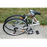 "Columba 26"" Folding Bike w. Shimano 18 Speed Silver (SP26S_SLV)"