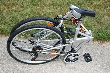 Columba 26 Folding Bike W Shimano 18 Speed Silver