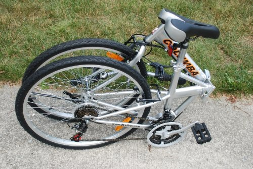 Columba 26' Folding Bike w. Shimano 18 Speed Silver (SP26S_SLV)
