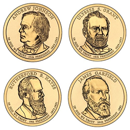 2011 P Presidential Dollar 4-Coin P Mint Uncirculated (Coins 2011 Presidential Dollar)