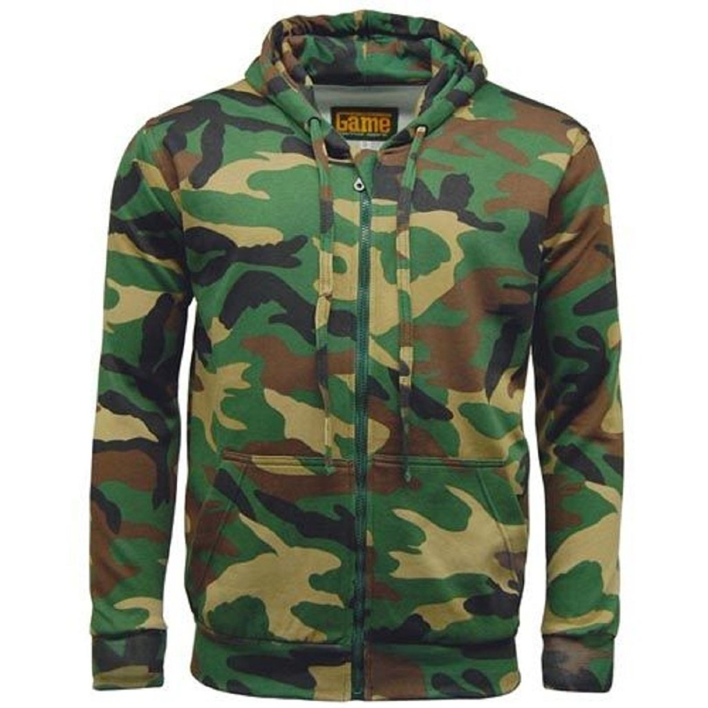 Game Mens Jumper Camo Camouflage Hoodie Hoody Camo Pattern