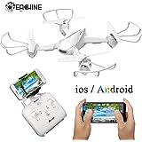 EACHINE E32HW Drone con Telecamera HD 2.0MP 550mAh WiFi e FPV App Funzione di Sospensione Altitudine Headless Mode e Ritorno con Un Solo Tasto e Prezzo Contenuto (Bianco)