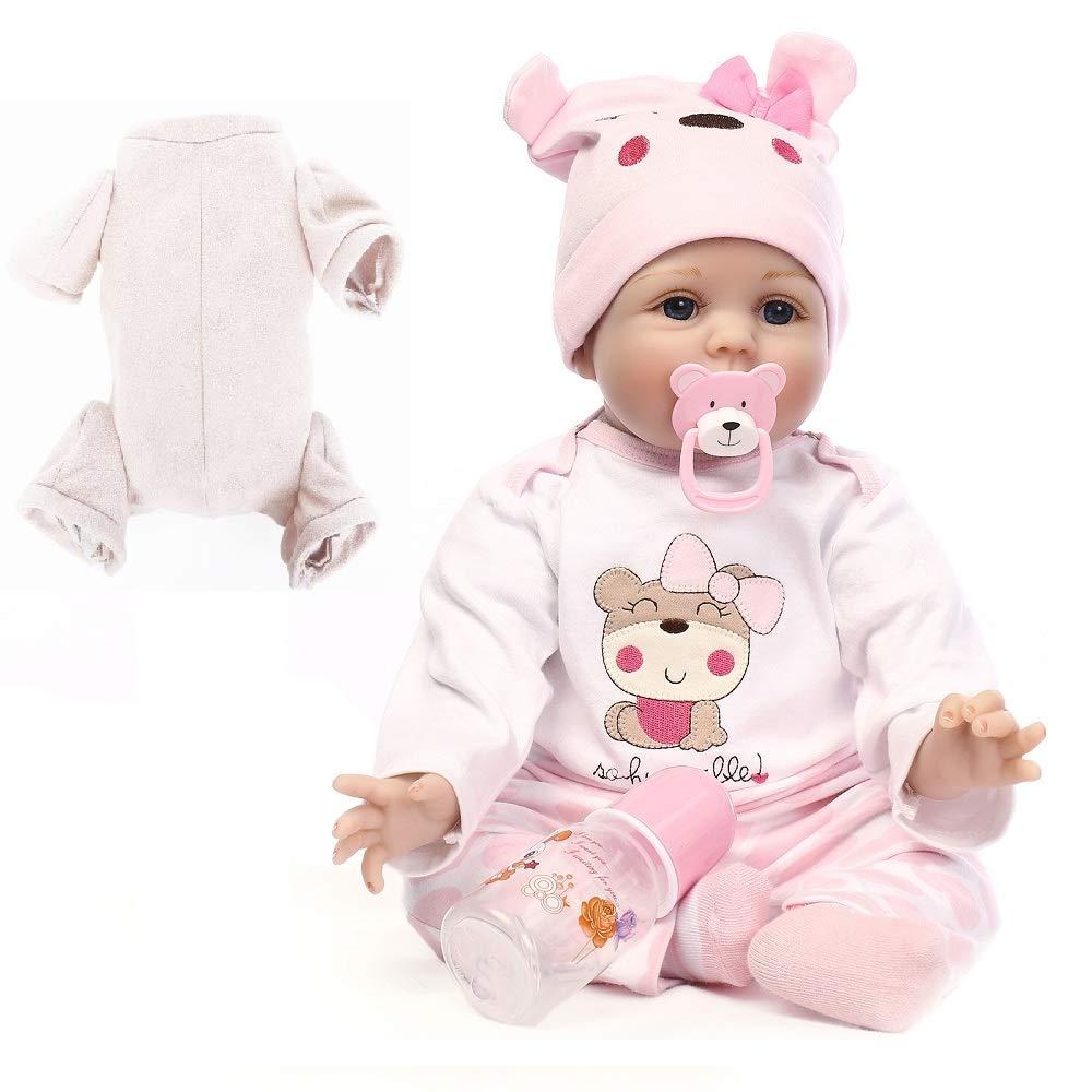 22/'/' Reborn Baby Supplies Doe Suede Body For 3//4 Arm Full Leg Doll Reborn Kit