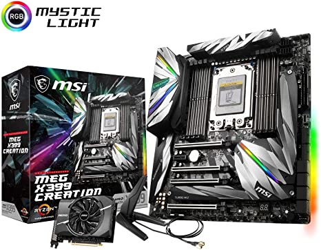 MSI Meg X399 Creation - Placa Base Enthusiast: Amazon.es: Informática