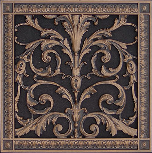 Decorative Vent Cover, Grille, made of Urethane Resin in Louis XIV, French style fits over a 12