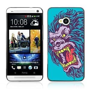 Designer Depo Hard Protection Case for HTC One M7 / Evil Neon Gorilla