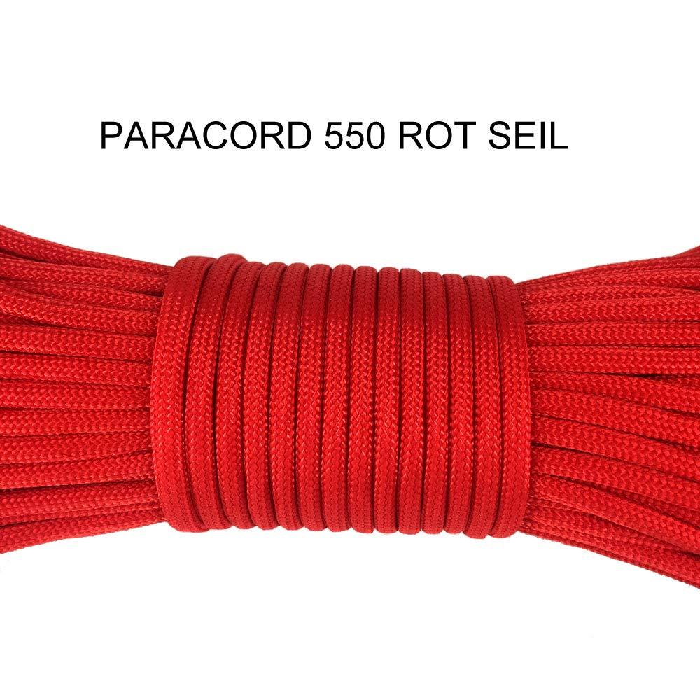 Nouer des laisses de Chien en 100/% Polyester Parachute avec 4 Fermetures /à clic XIAONAN Paracord 550 Corde dext/érieur 100 ft//31 m 7 Fils /à c/œur 4 mm d/épaisseur pour Bracelet