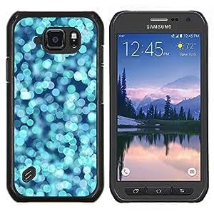 TECHCASE---Cubierta de la caja de protección para la piel dura ** Samsung Galaxy S6 Active G890A ** --Agua Azul Océano Pera brillante