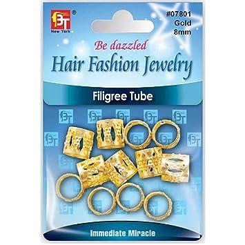 Amazon Com Filigree Tube Hair Fashion Jewelry For Crochet Box