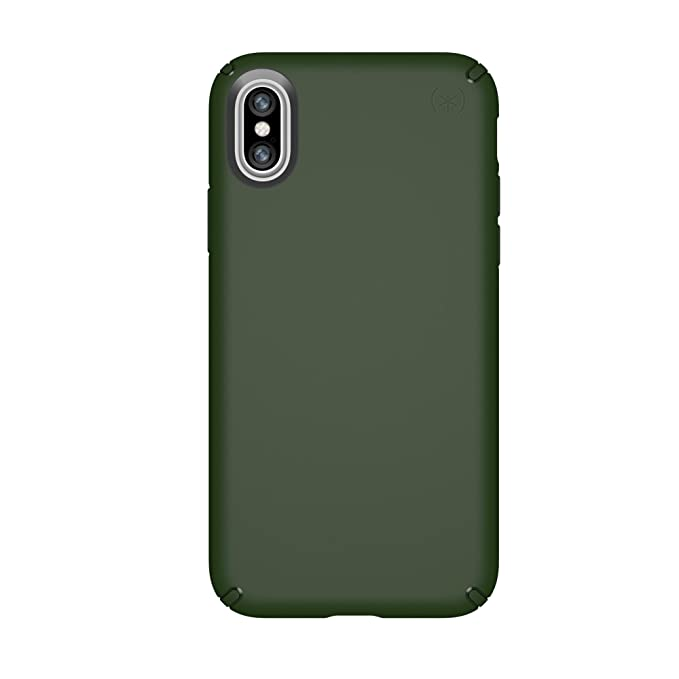 best website 67453 dcc92 Speck Products 103130-6586 Presidio Case for iPhone XS/iPhone X, Dusty  Green/Dusty Green