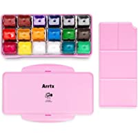 Arrtx AJG-001 Gouache Paint Sets with Jelly Cup Design, 18 Colors ×30ml in a Plastic Box with a Palette, Suitable for…