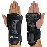 CTHOPER Skiing Wrist Guard Gloves Roller Skating Wrist Palms Protective Gear Adjustable Gauntlets Wrist Support for Snowboard