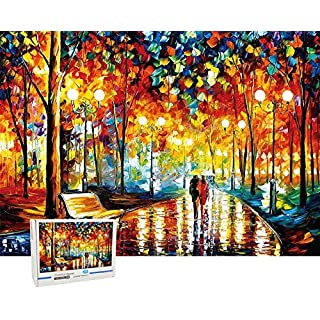 """Puzzles for Adults 1000 Piece Larger Lover Rainy Night Walk 3X Hardness Material Jigsaw Puzzle 1000 Pieces 27"""" x 20"""""""