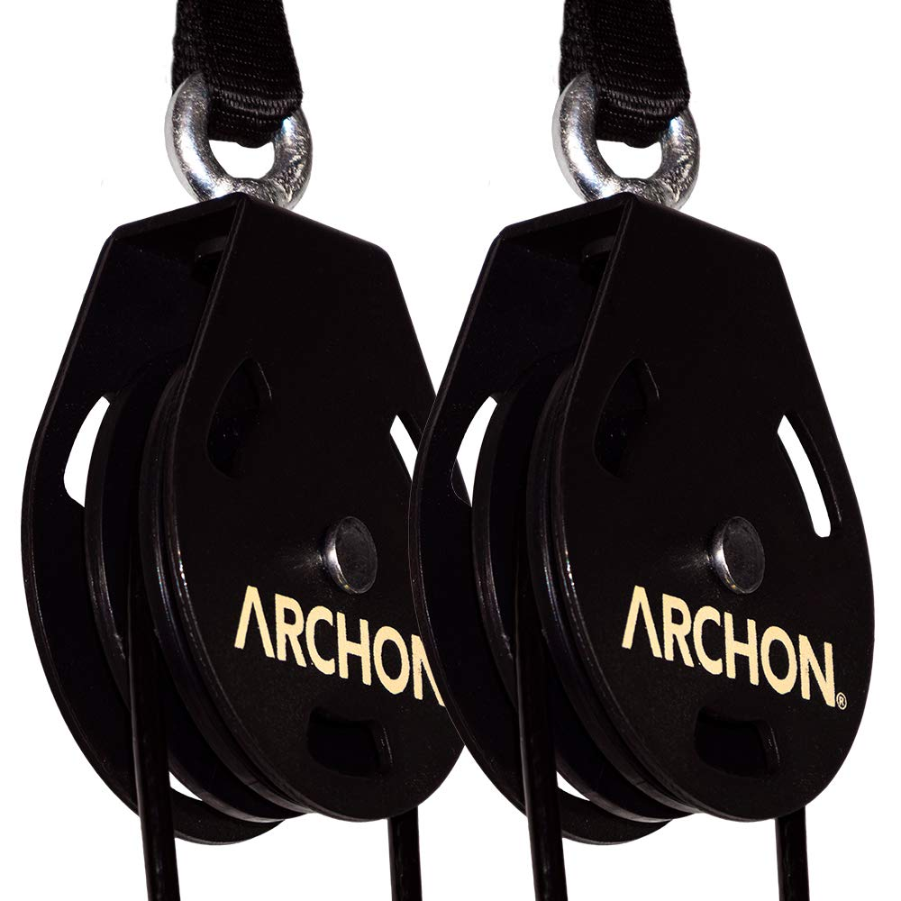 ARCHON Fitness Single Pulley Cable Station Pair (E: Single Pulley 70'' Pair)