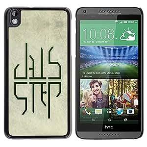 "For HTC DESIRE 816 , S-type Dub DUBSTEP Paso"" - Arte & diseño plástico duro Fundas Cover Cubre Hard Case Cover"