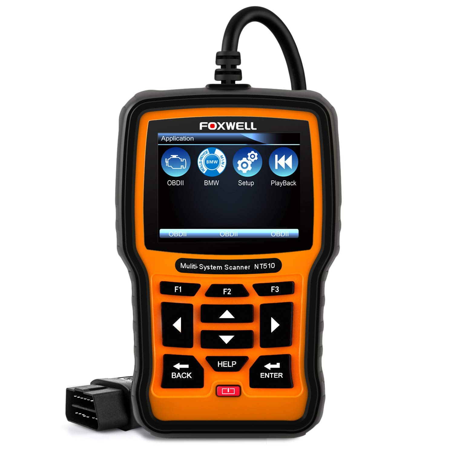 FOXWELL NT510 BMW Scan Tool Automotive OBD II Obd2 Code Reader, ABS/SRS/EPB/Transmission Diagnostic Scanner with OIL Service Reset, ABS Reset Service Functions Shenzhen Foxwell Technology Co. Ltd.