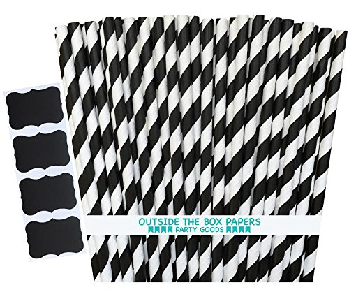 outside-the-box-papers-striped-paper-straws-775-inches-pack-of-100-black-white