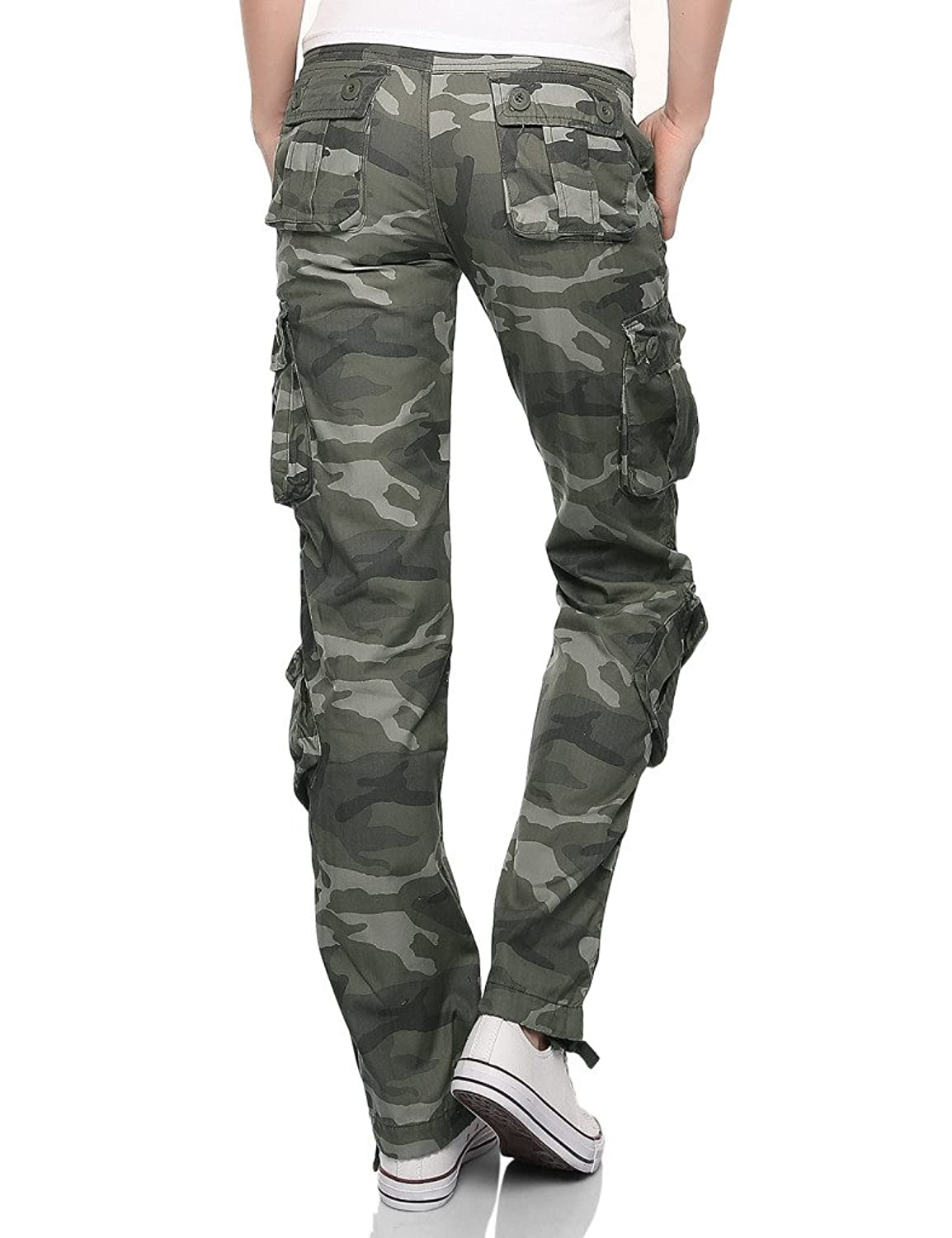 Match Women's Classic Straight Leg Multi Pocket Cargo Pants at ...