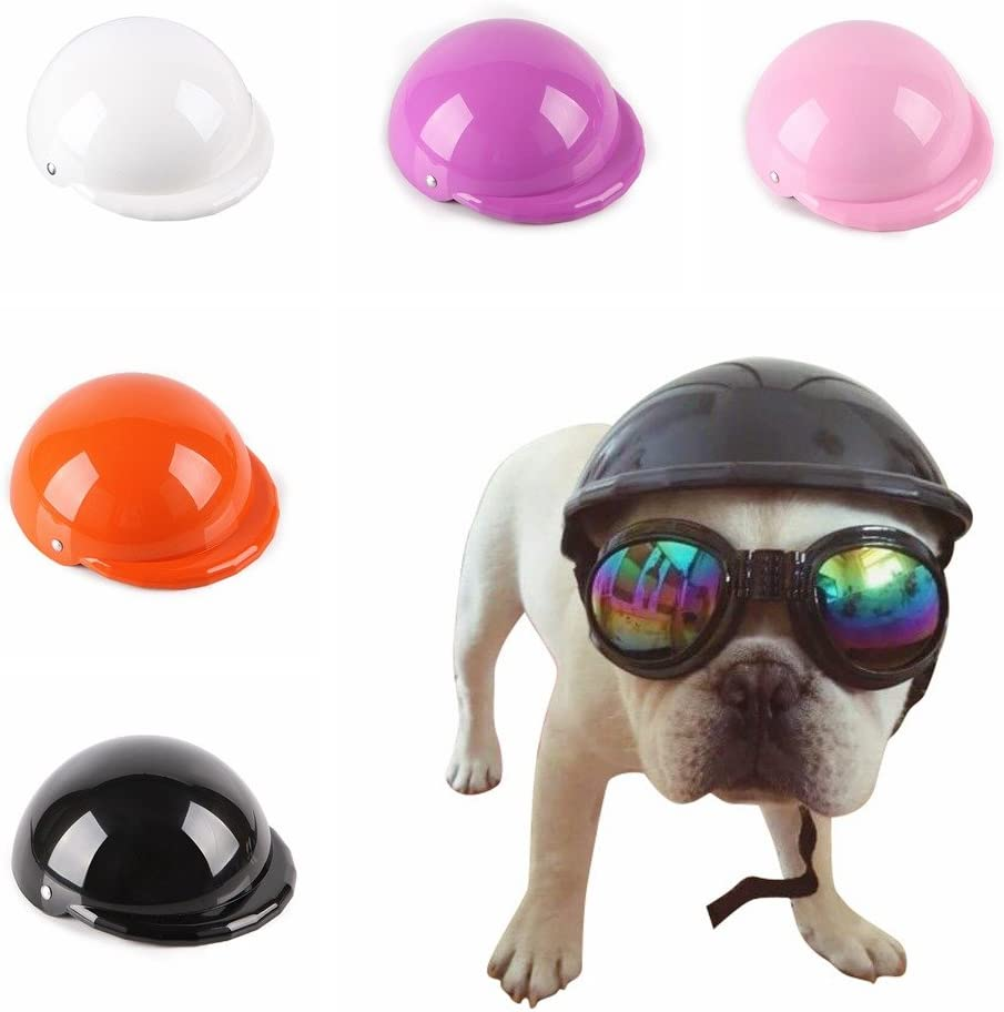 einstellbare Hund Hut f/ür Sonnenschutz 5 Farben 4 Gr/ö/ßen Balai Pet Funny Coole Motorr/äder Fahrradhelm Hut