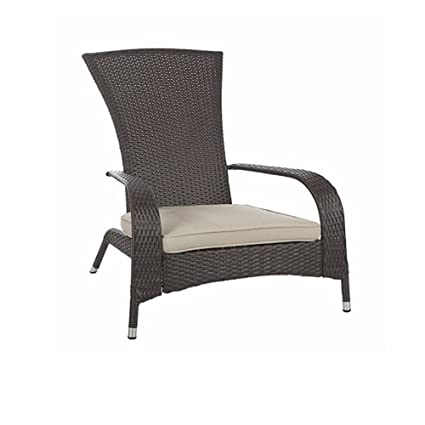 Beau PE Rattan Bistro Chair, Wicker Material, Brown Color, Resistant To Weather  Conditions,